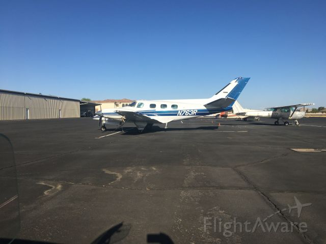 Beechcraft Duke (N763R) - On the Ramp at Pegasus Airpark