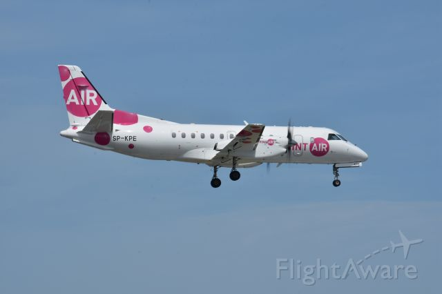 SP-KPE — - Nice small arrival, the SprintAir Saab in May 2020 from Leipzig via East Midlands