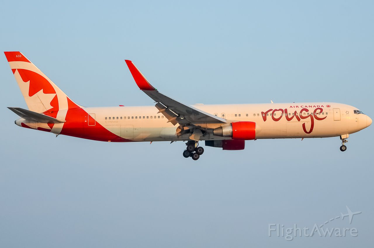BOEING 767-300 (C-FMWU) - Here is a beautiful Air Canada Rouge 767 on final for 23 at Toronto Pearson Airport.