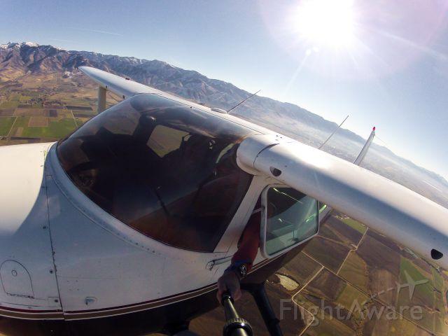 Cessna Skylane (N20733) - Departing Logan Utah for Afton Wyoming