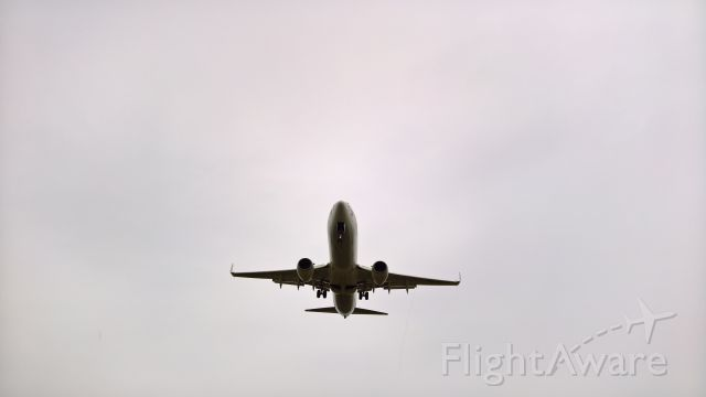 Boeing 737-800 (9Y-BGI) - Seconds from landing on Runway 10 on a rainy day with some light winds