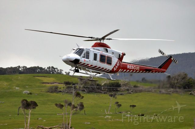 Bell 412 (VH-VAB) - Bell 412 VAB arriving at Flinders Island from Hobart, Oct 2016