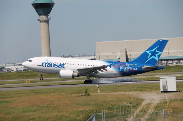 Airbus A310 (C-GTSY) - Touchdown