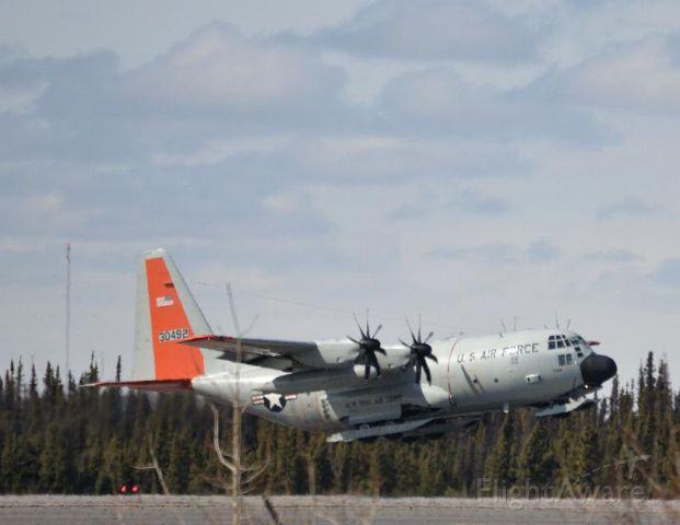 Lockheed C-130 Hercules (N30492) - National guard C130 taking off runway 08. Callsign Skier??