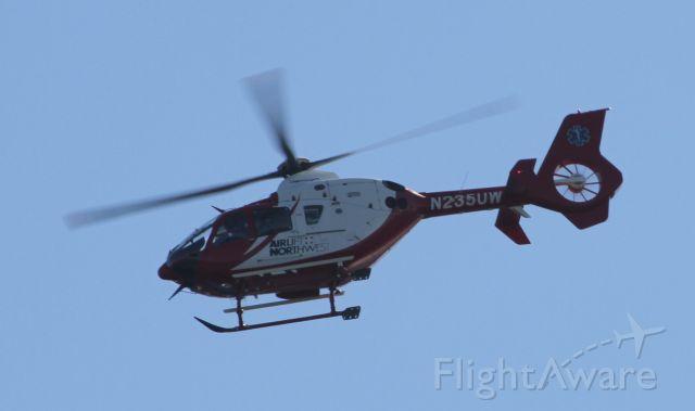 Eurocopter EC-635 (N235UW) - Over Mercer Island, WA