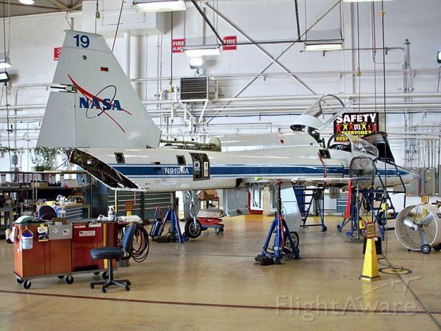 N919NA — - Maintenance on a NASA T-38 Talon.