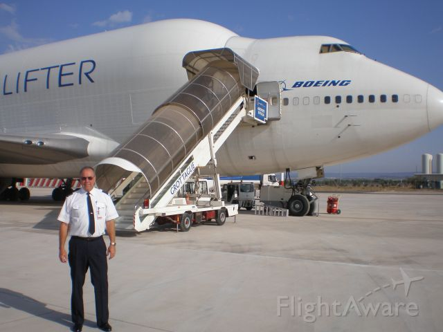 Boeing 747-200 — - Grottaglie, Italy. Waiting for more parts of course.