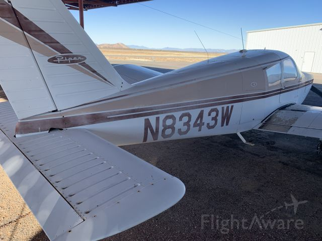 Piper Cherokee (N8343W) - Although tracking shows this aircraft N number flew in 2016 , it has been sitting here at KLRU for at least the last 15 years or longer , owner is deceased , I'm trying to locate family members