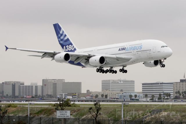 Airbus A380-800 — - A380 Airbus first flight to Los Angeles