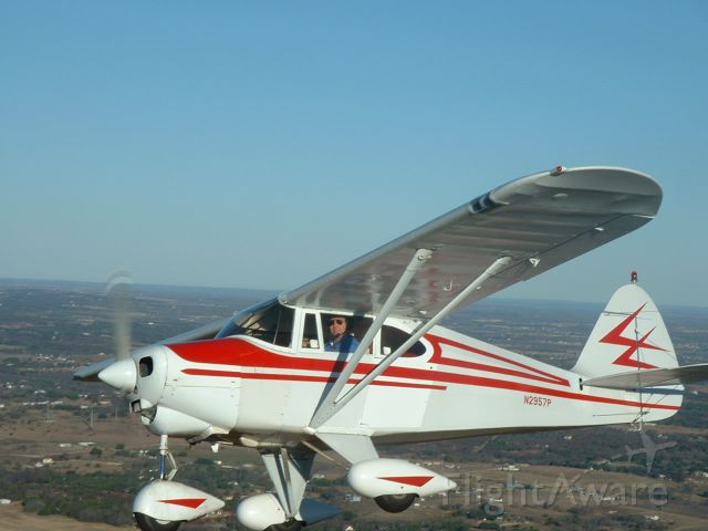 Piper PA-22 Tri-Pacer (N2957P) - Flight over Lake Weatherford, TX