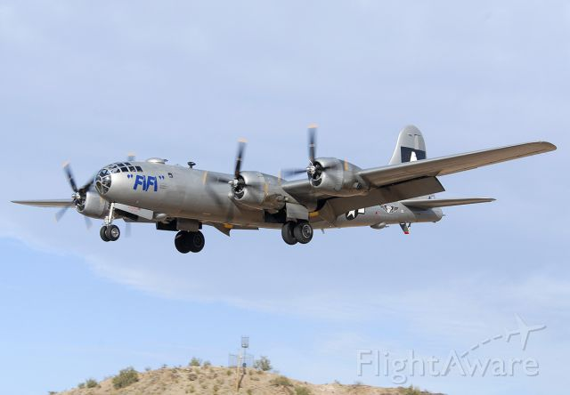 Boeing B-29 Superfortress (N529B) - Fifi on approach to land on Runway 25 Right