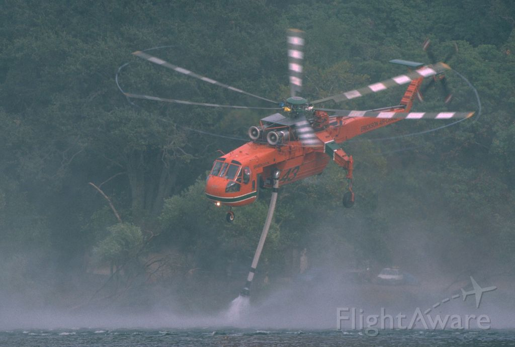 N157AC — - N157AC Erickson Air Crane  1993 Marre Fire Los Padres N.F.   Lifting with a load of water.