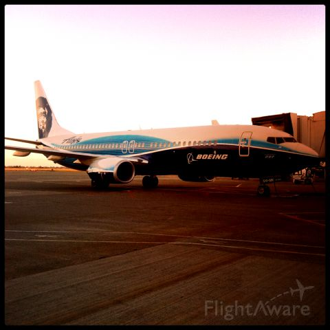 Boeing 737-700 — - Early morning shot of the special livery between Boeing/Alaska.