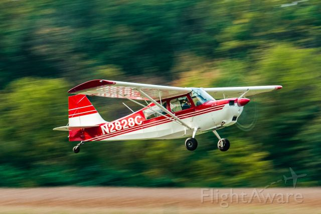 CHAMPION Sky-Trac (N2828C) - Panning shot of a Citabria 7GCBC taking off from Wings Field 10/11/21