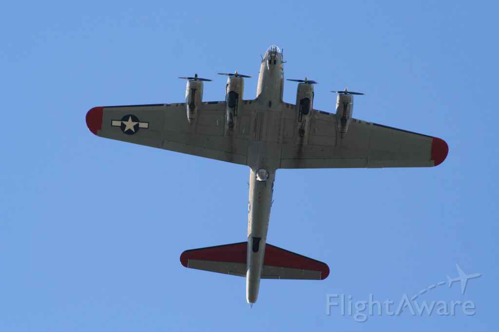 """Boeing B-17 Flying Fortress — - presumed to be """"BOEING BEE"""" as this was taken in North Seattle 6/22/13"""