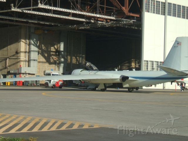 Martin WB-57 — - Towed in the hangar at Goose Airport NL