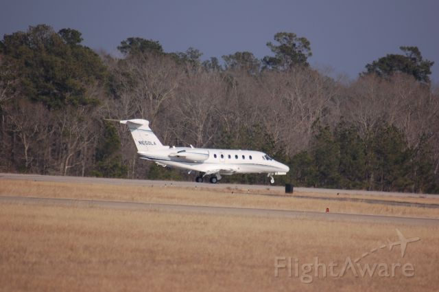 Cessna Citation III (N650LA) - Rolling down 14 at Lone Star.