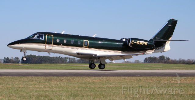 IAI Gulfstream G150 (C-GWPK) - A Fast Air IAI Gulfstream G150 touching down on Runway 36 at Pryor Field Regional Airport, Decatur, AL - March 14, 2018.