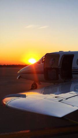 Beechcraft Beechjet (N488TM) - N488TM resting before operating VTE1204 to Pittsburgh 10/6/2016