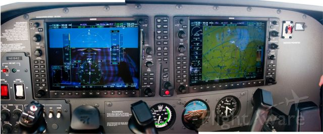 Cessna Skylane (N61398) - Nav and GPS systems active on our return flight to KGVL