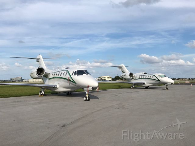 Cessna Citation X (N713FL) - AirX America N713FL & N214WT at KFXE. Available for charter flights. Contact charter.sales@airx.aero for details.