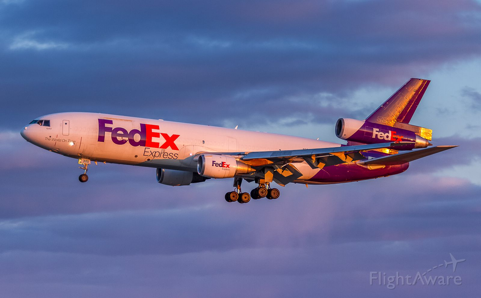 McDonnell Douglas DC-10 (N320FE) - The second FEDEX freighter arriving from Memphis as FX132 on short finals for runway06<br />April 8th, 2018
