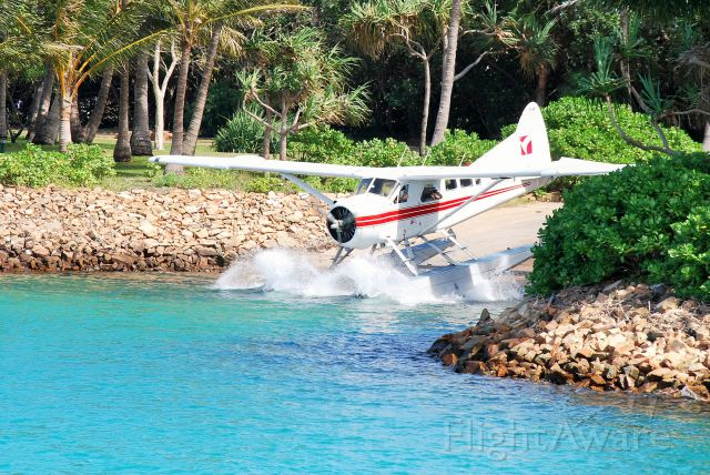 De Havilland Canada DHC-2 Mk1 Beaver (VH-AWY) - Yankee demonstrating amphibious capabilities, entering the marina at Hayman Island, Qld.