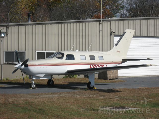 Piper Malibu Mirage (N9090J) - This aircraft, a native of Florida that was once based here at KFIT, has been up in New England this summer spending most of its time on Cape Cod; but has come back to Central Massachusetts to get maintenance done.