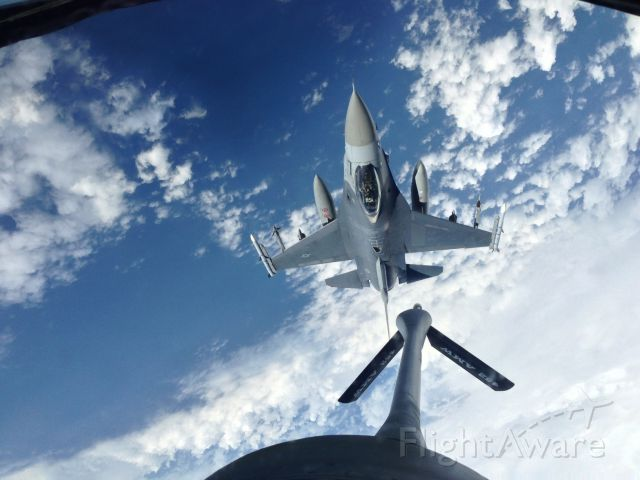 Lockheed F-16 Fighting Falcon — - Refueling ops.