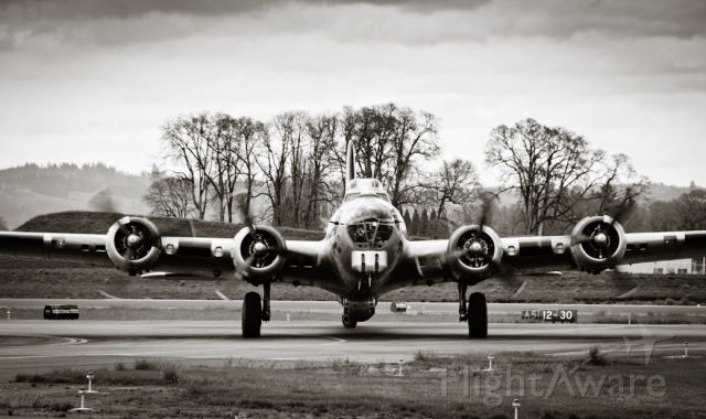 Boeing B-17 Flying Fortress (N390TH) - Liberty Belle - Just after landing at KHIO, April 2010