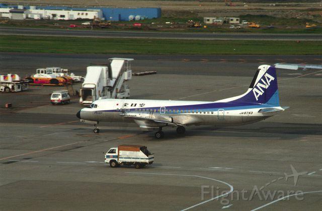 NAMC (1) YS-11 (JA8743) - Taxing at Tokyo-Haneda Intl Airport on 1987/10/10