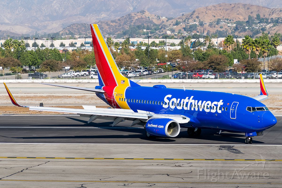 Boeing 737-700 (N7717D) - Off the runaway direct to gate goes this Southwest flight