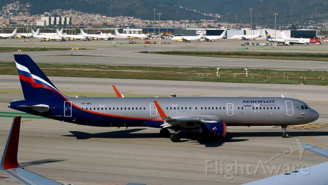 Airbus A321 (VP-BKI) - Barcelone, 7 décembre 2016.