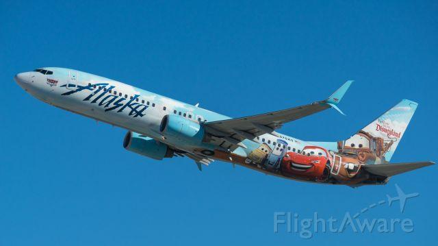 Boeing 737-800 (N570AS) - Cars livery departing 25Lbr /3/3/18