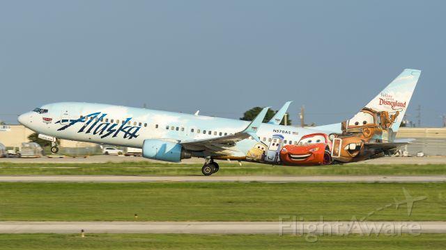 Boeing 737-800 (N570AS) - Cars livery departing 4br /9/5/17