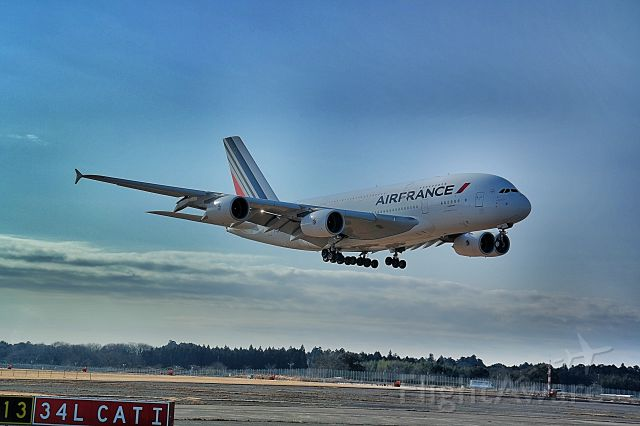 Airbus A380-800 (F-HPJA) - At the hold short lines for rwy 34R