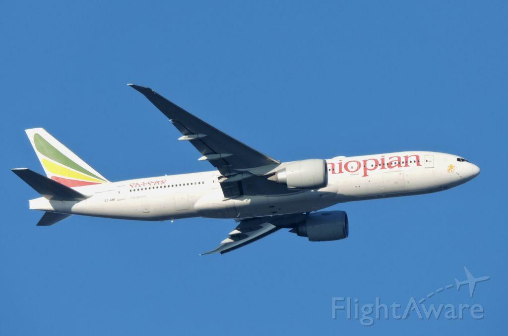 BOEING 777-200LR (ET-ANR) - Minutes from landing, Feb. 2020.
