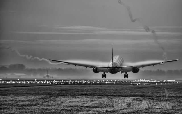 BOEING 777-300 — - Morning early at 8 am in amsterdam
