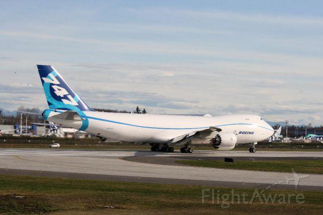 BOEING 747-8 (N747EX) - Start of Taxi Test