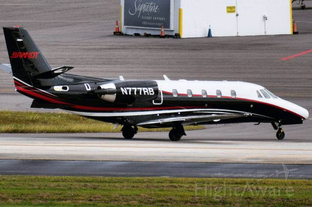 Cessna Citation Excel/XLS (N777RB) - 2006 Cessna 560XL (Citation Excel) arriving into the Signature FBO ramp at Tampa International (TPA) from Springfield (SPI)