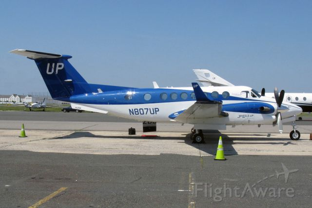 Beechcraft Super King Air 350 (N807UP) - King Air B300 N807UP (c/n FL-892)operated by Wheels Up Partners LLC at Republic Airport, Farmingdale, New York on July 1, 2014.