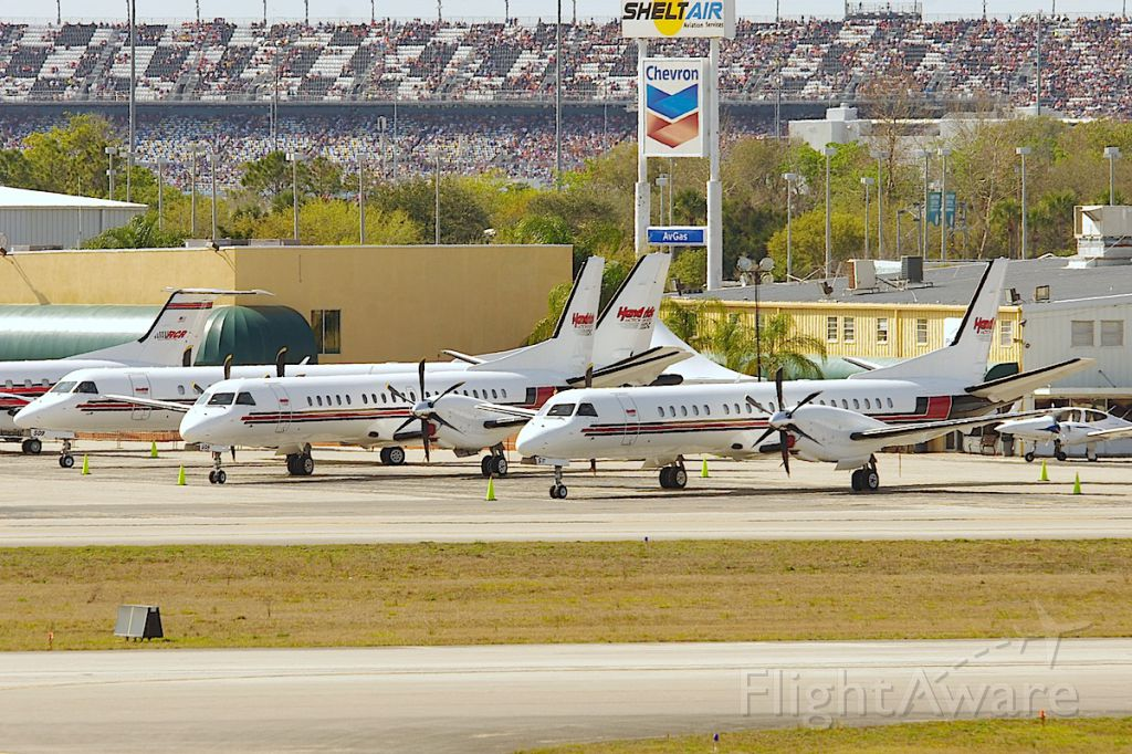 Saab 2000 (N511RH) - All 3 of Hendricks Saabs awaiting their next trip to KJQF. N509RH and N508RH are the other 2.