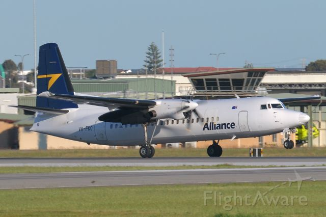 Fokker Maritime Enforcer (VH-FKO) - Adelaide, South Australia, September 10, 2020. <br /><br />Regional carrier Alliance Airlines Flt Unity 3252 departs off Rw 05 at 0731 bound for BHP mining town Olympic Dam about 320 miles NNW of Adelaide.