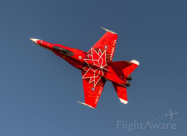 McDonnell Douglas FA-18 Hornet (18-8734) - Resplendent in Canada 150 colours at Airshow London 2017
