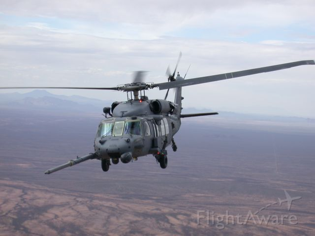 Sikorsky S-70 — - Looking out the back of a HC-130P at a H-60 ready to in flight refuel