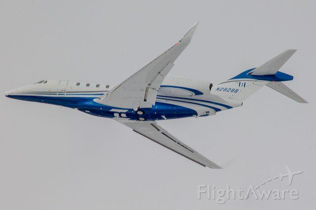 Cessna Citation X (N2828B) - A slick looking Citation X departing Eagle. 6 Feb 2021.