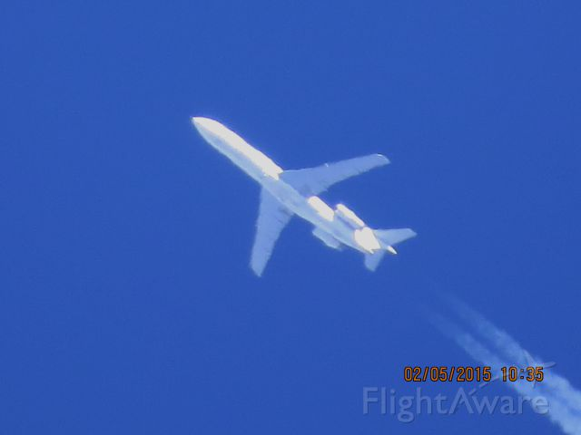 BOEING 727-200 (N216WE) - Contract Air Cargo flight 216 from PTK to CUU over Southeastern Kansas at 36,000 feet.