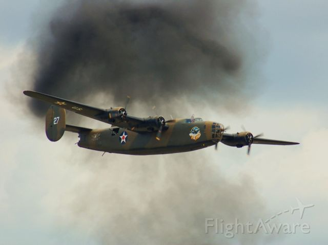 """Consolidated B-24 Liberator (N24927) - B-24 """"Ol 927"""" fly-by at Wings Over Houston 2010."""