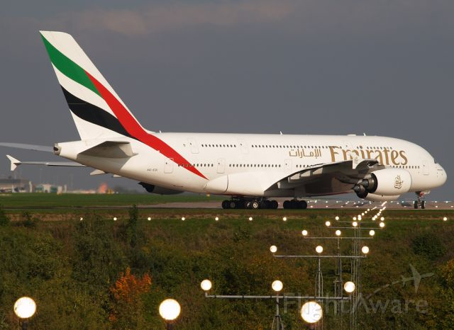 Airbus A380-800 (A6-EDI) - Departing back to Dubai from runway 05L.