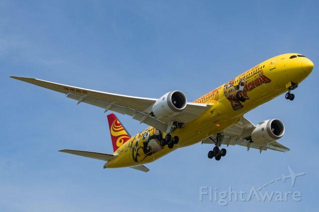 Boeing 787-9 Dreamliner (B-7302) - Yellow Panda inbound to 22L.